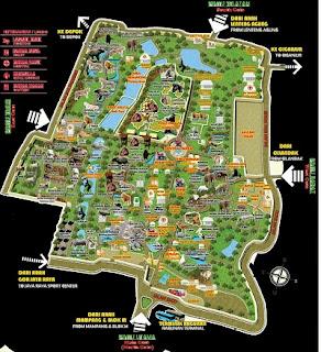 Peta Kebun Binatang Ragunan | Harga Tiket Masuk