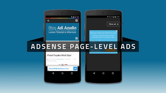 Adsense Page-level ads адаптивные блоки