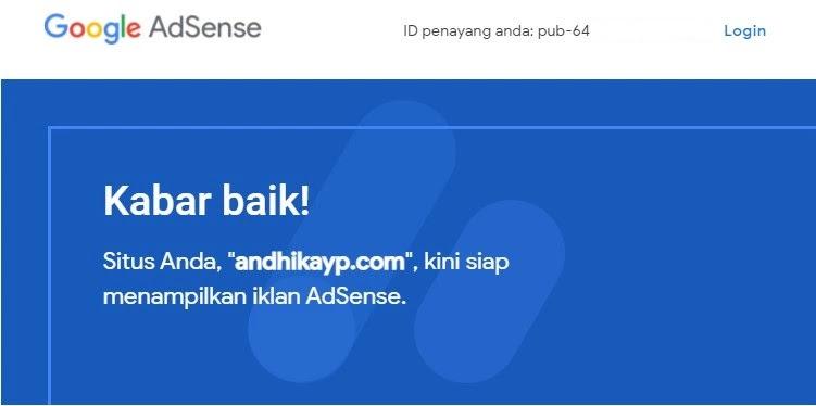 email blog diterima google adsense