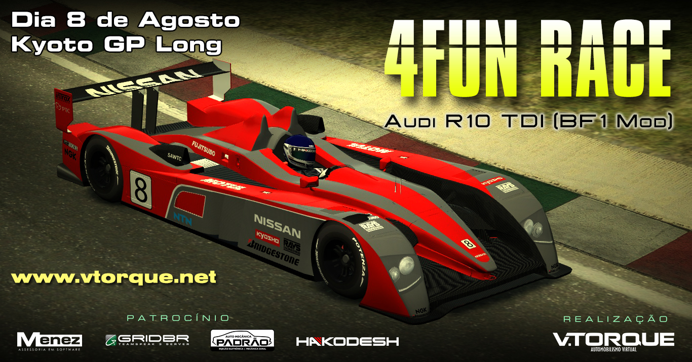 4Fun Race - Audi R10 TDI Le Mans Banner_4FunLM