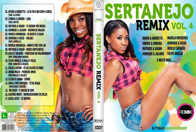 Capa DVD Sertanejo Remix Vol 4