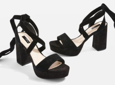 LEONARDO Ankle Tie Platform Shoes
