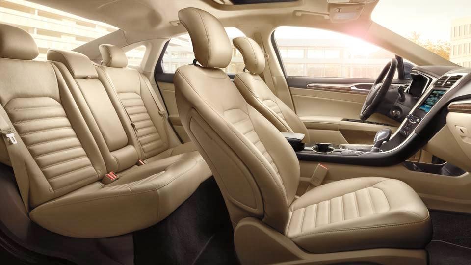 Ford Fusion Sedan Black Leather Interior