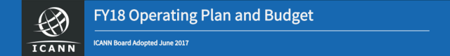 ICANN FY18 Operating Plan and Budget