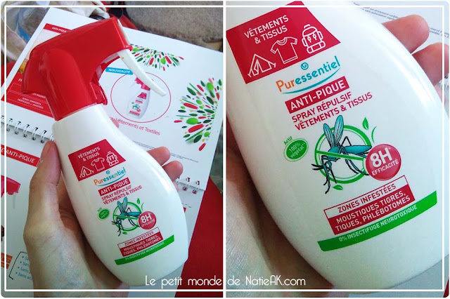 Spray répulsif vêtements et textiles, gamme anti-pique de Puressentiel