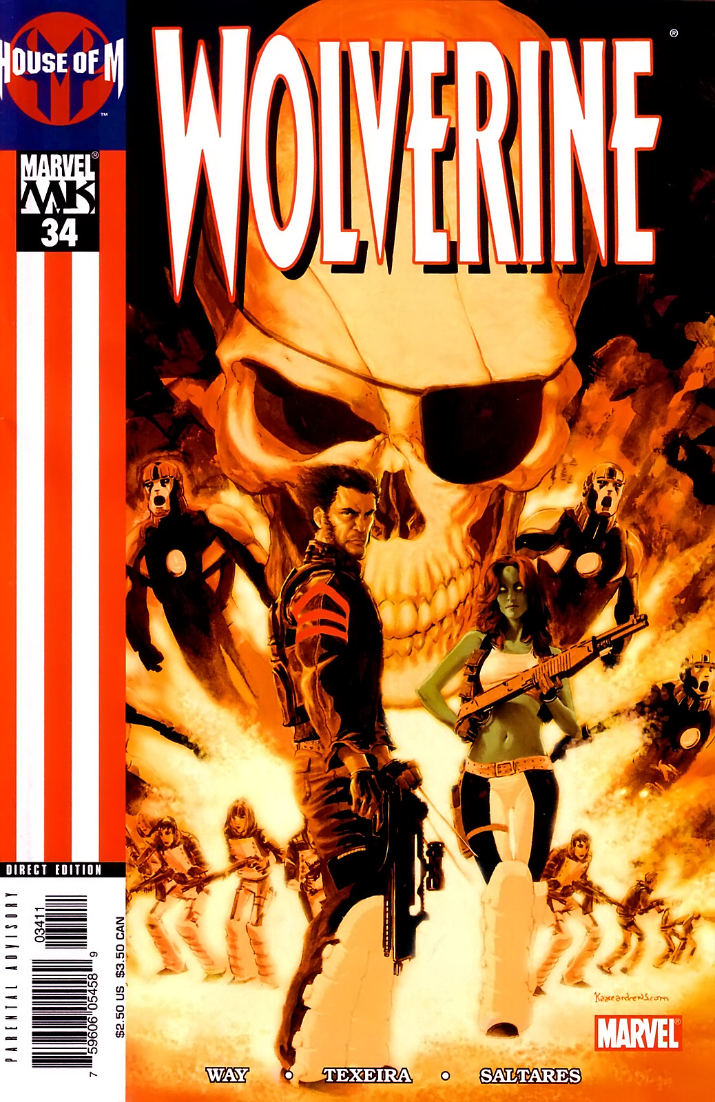 Read online Wolverine (2003) comic -  Issue #34 - 1