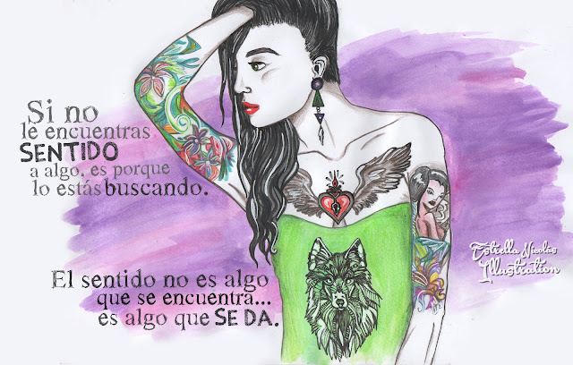 tattoo woman of sense