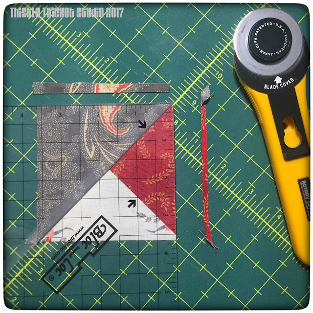 thistle thicket studio, bloc-loc ruler, block lock ruler, double pinwheel block, sewing, quilting