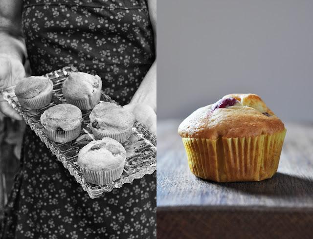 Muffins mit Weintrauben und Grappa