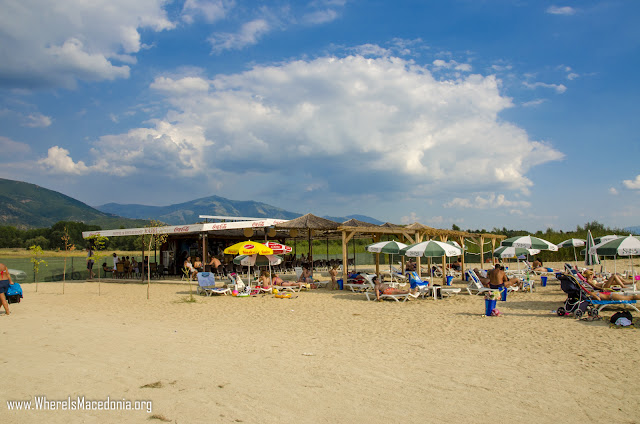Krani Beach on Prespa Lake, Macedonia