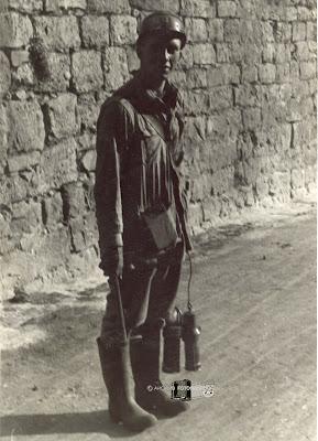 Robert H. Wagner a principios de los 50 realizando sus  prácticas en el Pozo Calero (Barruelo de Santullán)