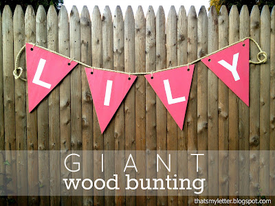 diy giant wood bunting
