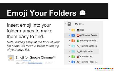 add emoji to your drive folders