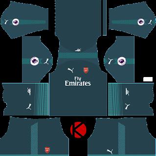 Arsenal Kits 2017/18 - Dream League Soccer