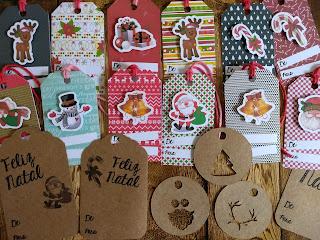 Tags de Natal - Ateliê Memórias e Retalhos
