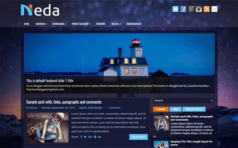 Neda Free Blogger Template