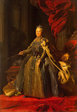 Portrait of Catherine II by Alexander Roslin - Portrait Paintings from Hermitage Museum