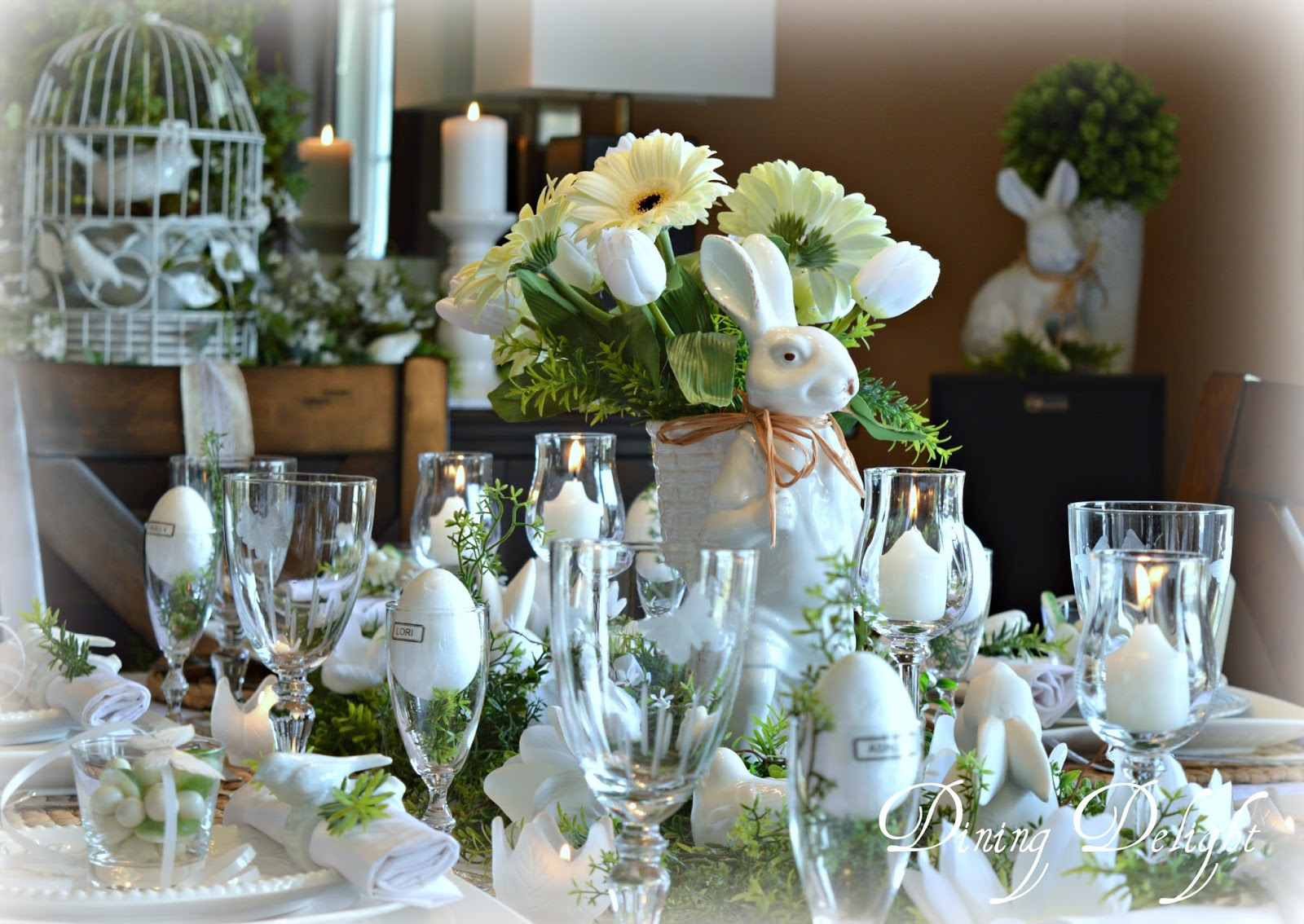 Dining Delight A White Easter Tablescape