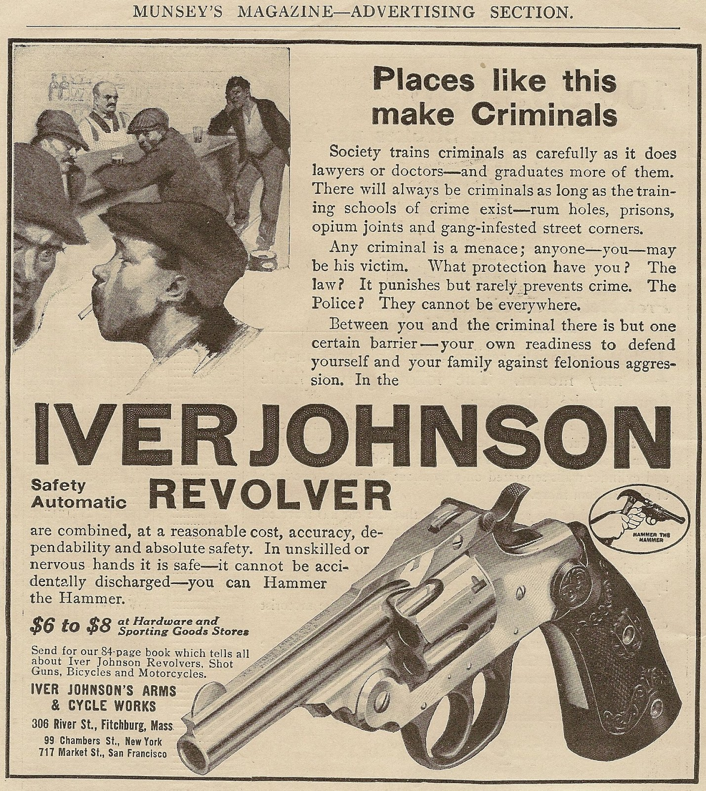 Vintage Iver Johnson Ad From MUNSEY 'S MAGAZINE