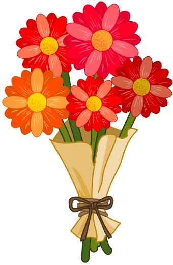clip flowers flower bouquet clipart arts birthday rose country graphics