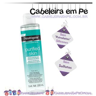 Água Micelar Purifyed Skin - Neutrogena (Sem Sulfatos Sem Petrolatos e Sem Silicones)