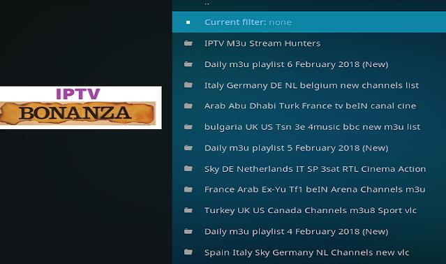 IPTV Bonanza Addon, Guide Install Iptv Bonanza Kodi Addon Repo