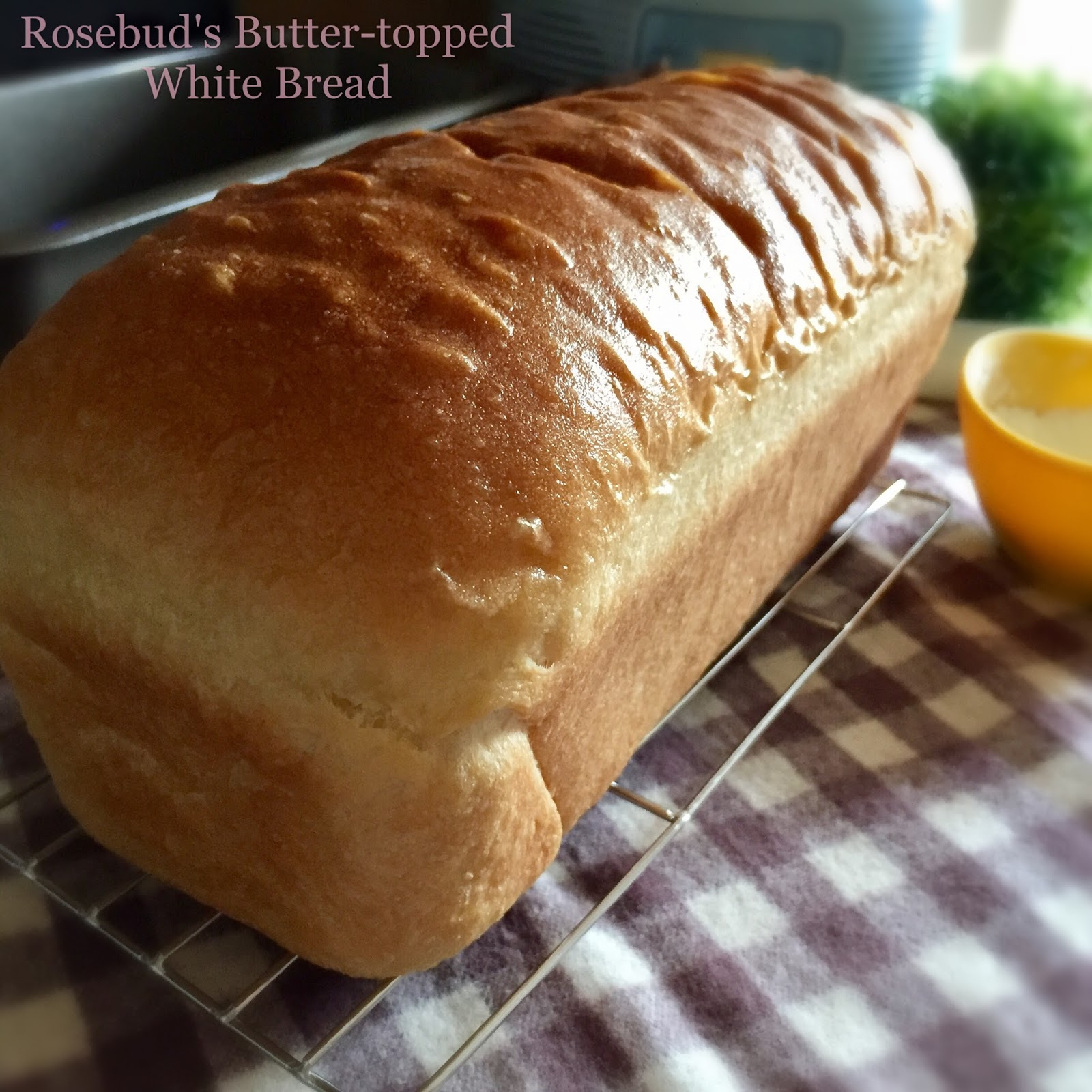 It's a simple white bread, but with a very attractive golden buttered ...