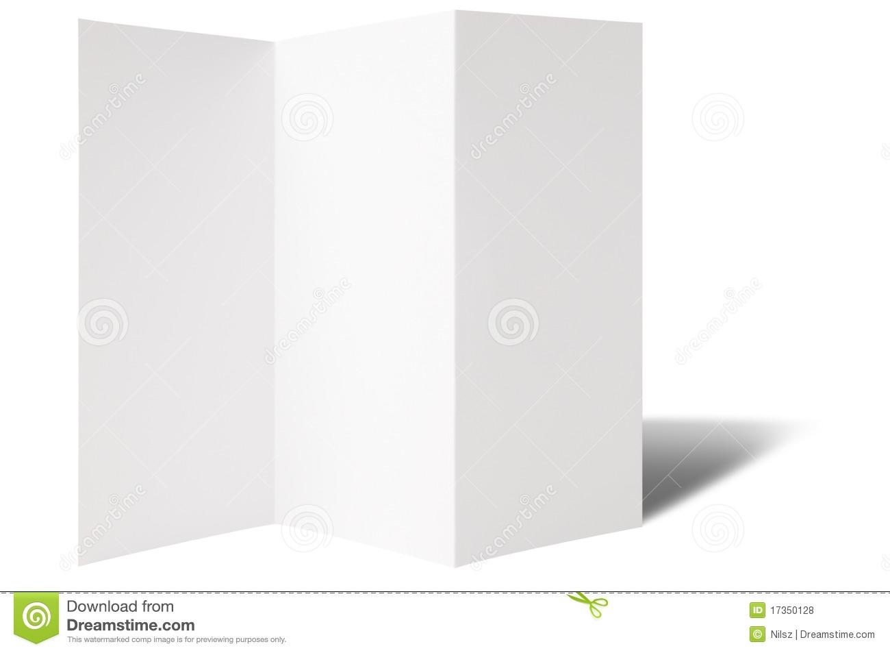 Blank Brochure Templates blank tri fold brochure template mock – Blank Brochure Template Word