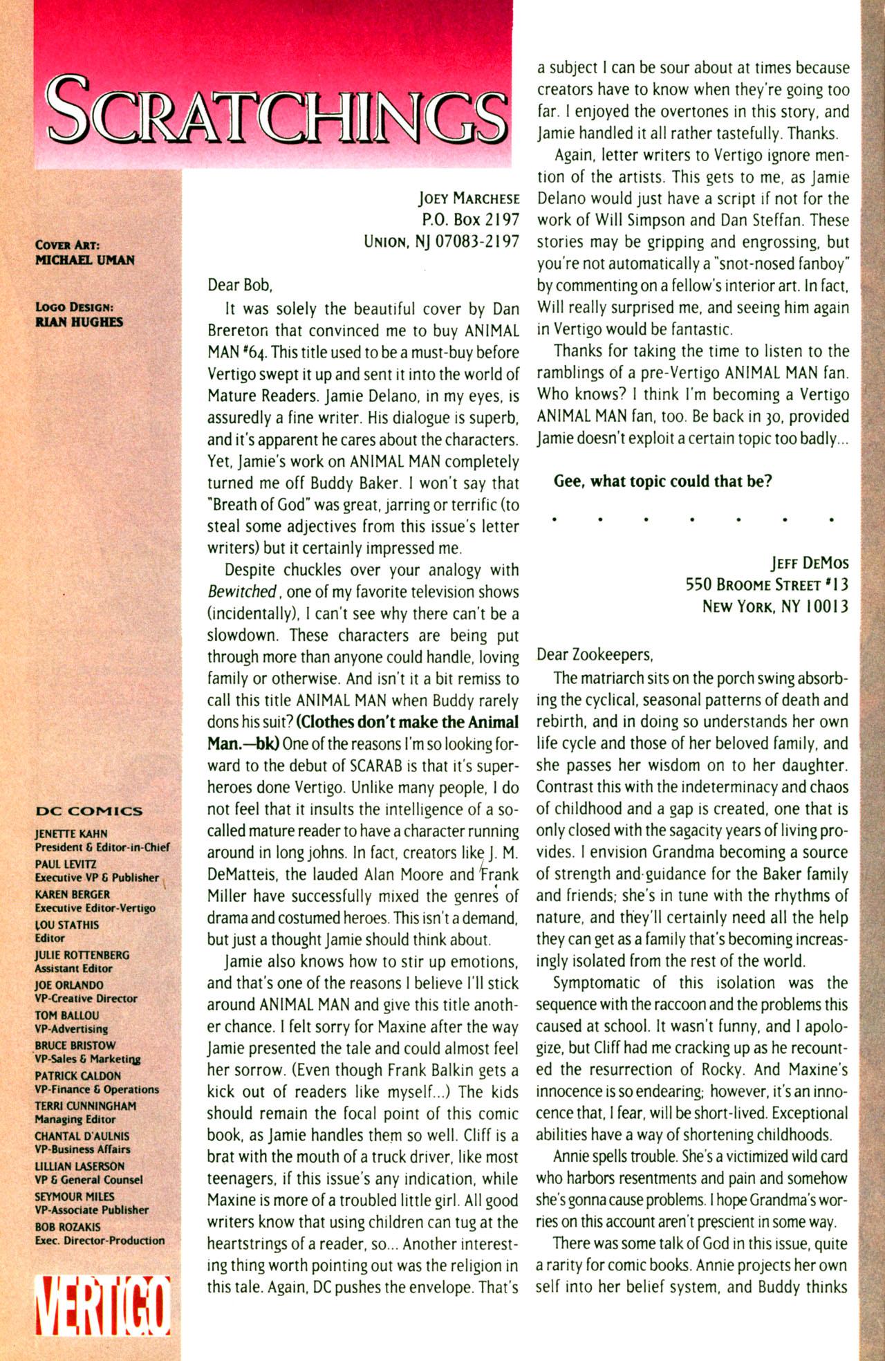 Read online Animal Man (1988) comic -  Issue #71 - 26