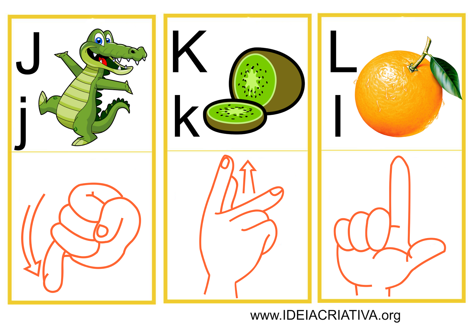 Flash Cards Letras do Alfabeto Libras