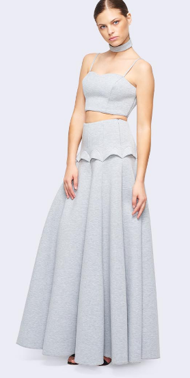 Two Piece with Overlay Designed Skirt - Homecoming Dress