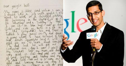 Niña de 7 años quiere trabajar en Google, y recibe una respuesta