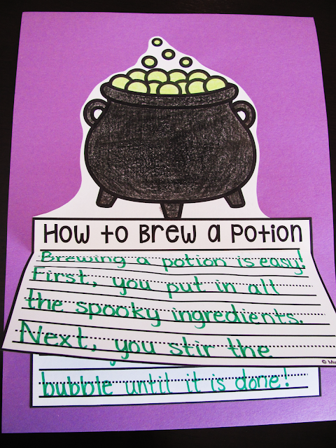 How to brew a potion is a super fun October how to writing activity for Halloween writing practice