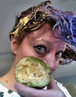 EASY color safe DIY mask WARNING do not use avocado if your hair is protein-sensitive!
