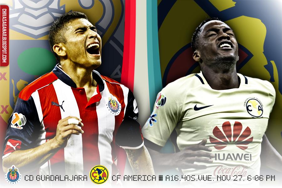 Liga MX : CD Guadalajara vs CF América - Apertura 2016 - Cuartos de Final - Vuelta.