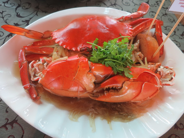 Glass Noodles and Chinese Wine Crab