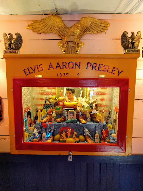 Shrine to Elvis at Chuy's in Austin, Texas