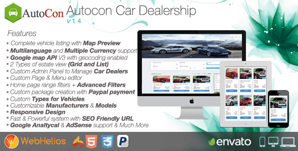 Free Download Autocon Car Dealership PHP Script