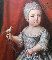 Painting of child at Stupinigi, Savoy hunting palace.