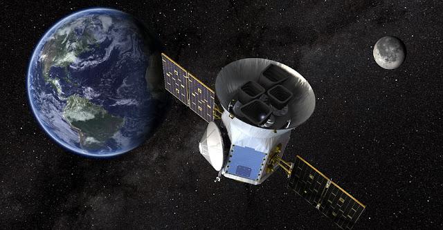 An artist's illustration of the Transiting Exoplanet Survey Satellite. Credits: NASA's Goddard Space Flight Center