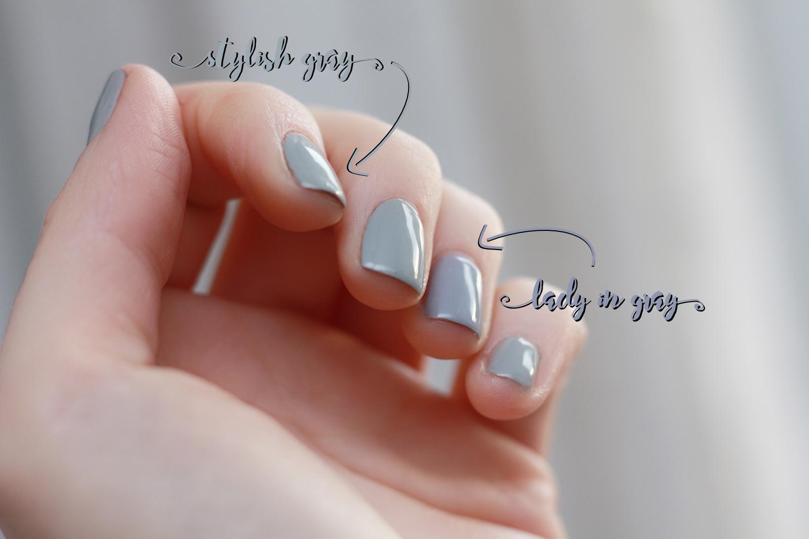 Stylish Gray kontra Lady in Gray od Semilac