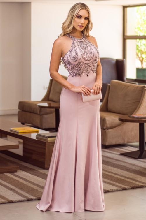 vestido longo lilás para madrinha