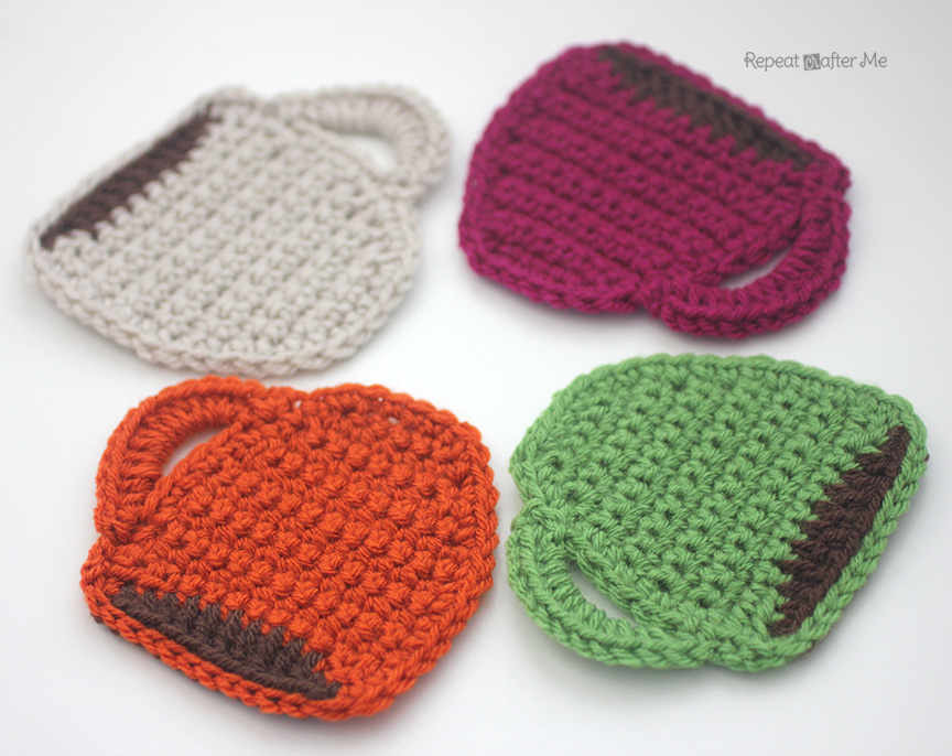 Free Crochet Patterns Of Coasters : Starbucks Core Coffee Series and Crochet Coffee Coasters ...