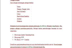 Contoh Surat Lamaran Kerja di Lembaga Pemerintah