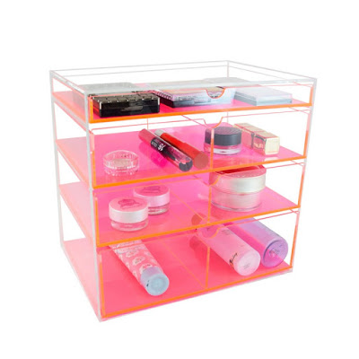 Shop Nile Corp Neon Pink Acrylic Cosmetics Organizer Holder Box