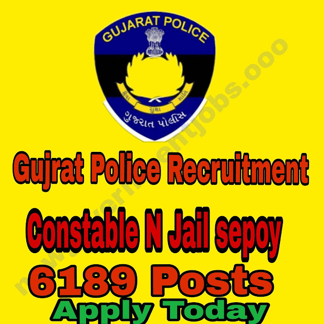 6189  POLICE RECRUITMENT OF GUJRAT 2018 -Apply now