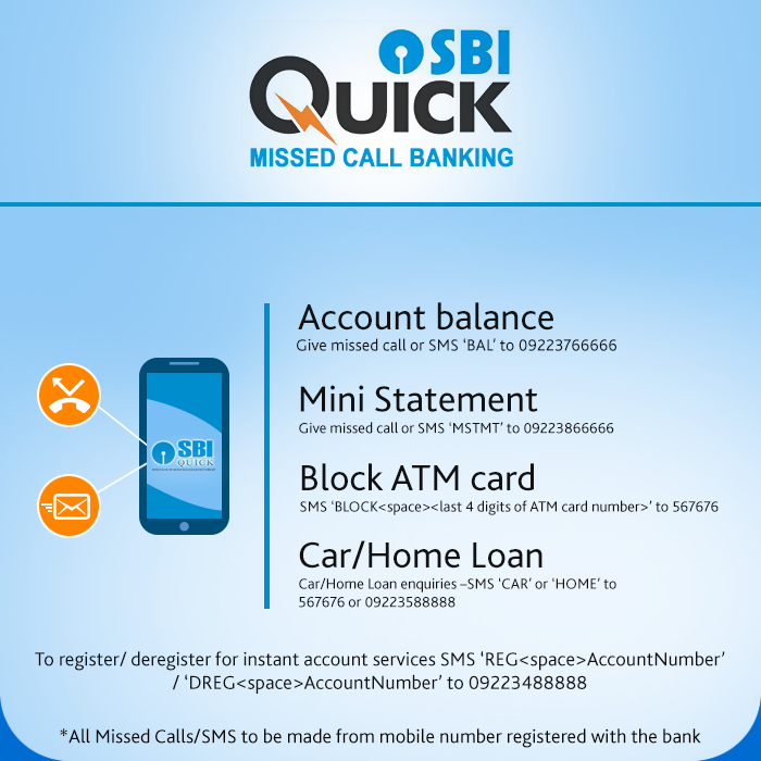 sbi bank account details by missed call