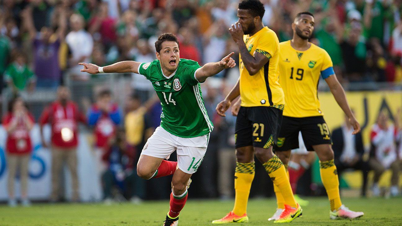 México vence a Jamaica 2-0