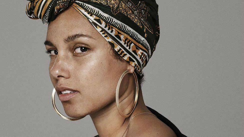 Alicia Keys on no makeup
