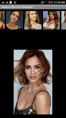 Jessica Alba 3D live Wallpaper For Android Mobile Phone